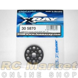 XRAY 305870 T4 Composite Offset Spur Gear 100T / 64