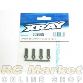 XRAY 302665 T4 Composite Ball Joint 4.9mm - Closed with Hole (4)