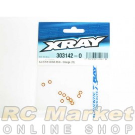 XRAY 303142-O Alu Shim 3x5x0.5mm - Orange (10)