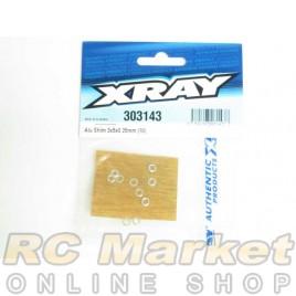 XRAY 303143 Alu Shim 3x5x0.25mm (10)