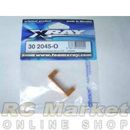 XRAY 302045-O T3 Alu Lower Suspension Block - Orange