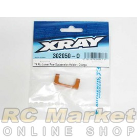 XRAY 302050-O T4 Alu Lower Rear Suspension Holder - Orange