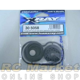 XRAY 305058	 Diff Pulley 38T with Labyrinth Dust Covers