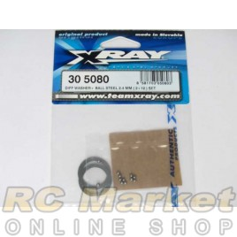XRAY 305080 Diff Washer + Ball Steel 2.4mm ( 2+12 ) Set