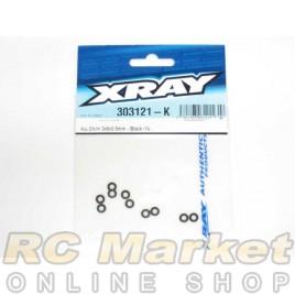 XRAY 303121-K Alu Shim 3x6x0.5mm - Black (10)