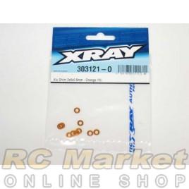 XRAY 303121-O T4 Alu Shim 3x6x0.5mm - Orange (10)