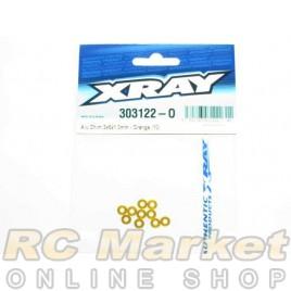 XRAY 303122-O Alu Shim 3x6x1.0mm - Orange (10)