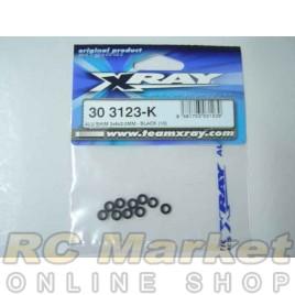 XRAY 303123-K Alu Shim 3x6x2.0mm - Black (10)
