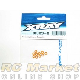 XRAY 303123-O Alu Shim 3x6x2.0mm - Orange (10)