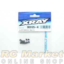 XRAY 303125-K Alu Shim 3x6x3.0mm - Black (10)