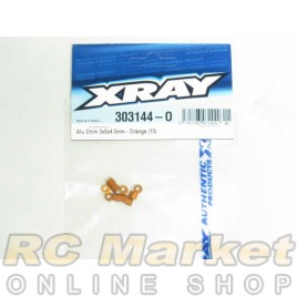 XRAY 303144-O Alu Shim 3x5x4.0mm - Orange