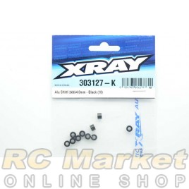 XRAY 303127-K Alu Shim 3x6x4.0mm - Black (10)