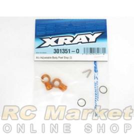 XRAY 301351-O T4 Alu Adjustable Body Post Stop (2)