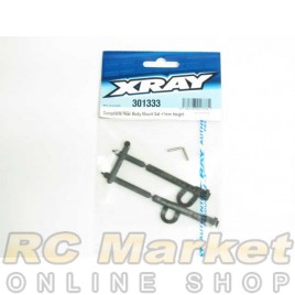 XRAY 301333 T4 Rear Body Mount Set +1mm Height