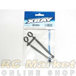 XRAY 301324 T4 Front Body Mount Set +2mm Height