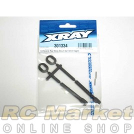 XRAY 301334 T4 Rear Body Mount Set +2mm Height