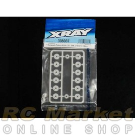XRAY 308037 T4 Composite Pistons 4-Hole 1.0-1.2mm, 3-Hole 1.0-1.2mm