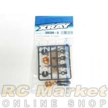 XRAY 308308-O T4'18 ULP Alu Shock Absorber - Set - Orange (2)