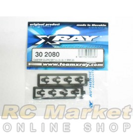 XRAY 302080 Caster Clips Set 4+3+2+1 mm (2)