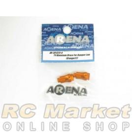 ARENA T4 Aluminum Brace For Bumper Low (Orange)(2)