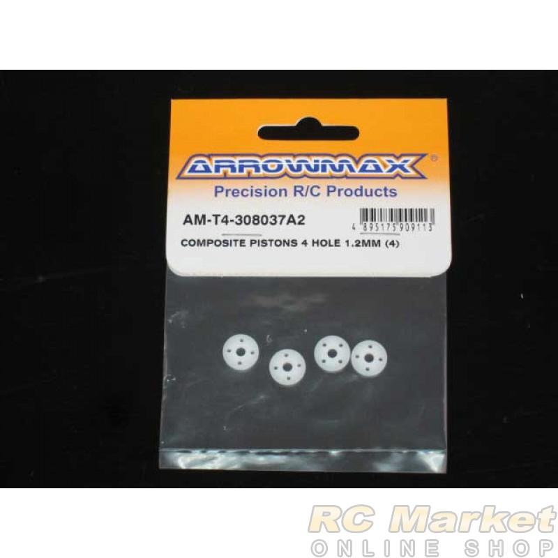 ARROWMAX T4-308037A2 Composite Pistons 4 Hole 1.2mm (4)