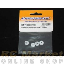 ARROWMAX T4-308037B1 Composite Pistons 3 Hole 1.1mm (4)