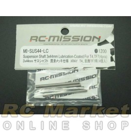 RC MISSION MI-SUS44-LC Suspension Shaft 3x44mm Lubrication- Coated For XRAY T4