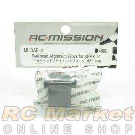 RC MISSION MI-BAB-X Bulkhead Alignment Block for XRAY T4