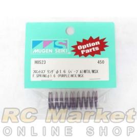 MUGEN SEIKI H0523 Front Shock Springs 1.6 (Purple) (MTX) (2)