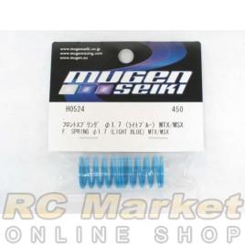 MUGEN SEIKI H0524 Front Shock Springs 1.7 (Light Blue) (MTX/MSX) (2)