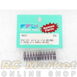 MUGEN SEIKI H0527 Rear Shock Springs 1.6 (Purple) (MTX) (2)