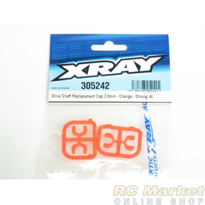 XRAY 305242 T4 Composite Drive Shaft Replacement Cap 3.5mm - Orange - Strong (4)