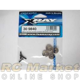 XRAY 309840 T4 Precision Balancing Chassis Weights (4 pcs.)