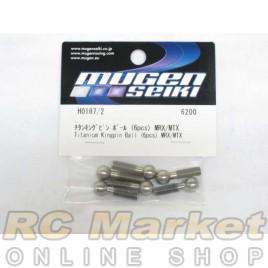 MUGEN SEIKI H0187/2 Titanium Kingpin Ball (6pcs) MRX/MTX