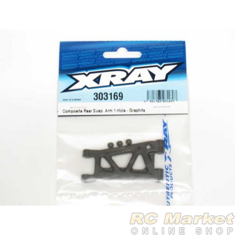 XRAY 302169 T4 Composite Front Susp. Arm 1-Hole - Graphite