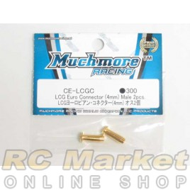 MUCH MORE CE-LCGC LCG Euro Connector (4mm) Male 2pcs.