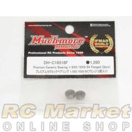 MUCH MORE DH-C18516F Premium Ceramic Bearing 1/8x5/16x9/64 Flanged (2pcs)