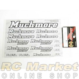 MUCH MORE Racing Color Decal White