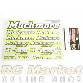 MUCH MORE Racing Color Decal Yellow