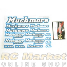 MUCH MORE Racing Color Decal Blue