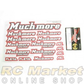 MUCH MORE Racing Color Decal Red