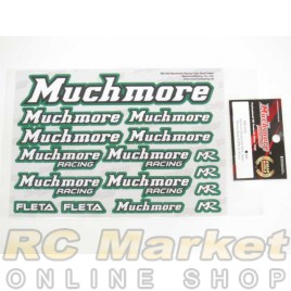 MUCH MORE Racing Color Decal Green