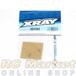 XRAY 305393 T4 ECS Drive Shaft Pin 2x8.5 with Flat Spot (2)