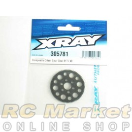 XRAY 305781 T4 Offset Spur Gear 81T/48
