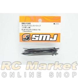 SMJ SMJ1305 Slim Nylon Cable-Tie (15pcs/Black)