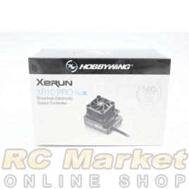 HOBBYWING 30112611 Xerun XR10 PRO Elite G2 160A Brushless ESC Midnight Silver