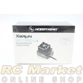 HOBBYWING 30112611 Xerun XR10 PRO Elite G2 160A Brushless ESC Midnight Silver