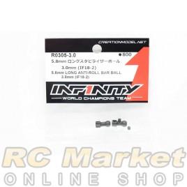 INFINITY R0305-3.0 IF18-2 5.8mm Long Anti-Roll Bar Ball 3.0mm