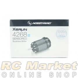 HOBBYWING 30401907 Xerun 4268SD Sensored Brushless Motor G3 2200KV - Black, Off-Road