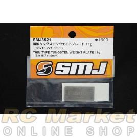 SMJ SMJ3521 Thin Type Tungsten Weight Plate 11g (33 x 16.7 x 1.0mm)